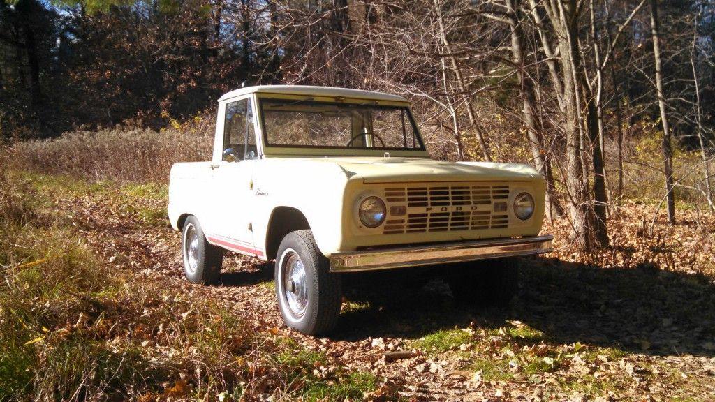 1966 Ford Bronco Half Cab Springtime Yellow For Sale