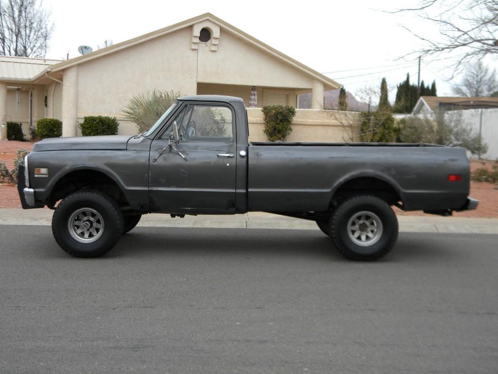 1971 chevrolet k10 4x4 half ton long bed pickup truck for sale. Black Bedroom Furniture Sets. Home Design Ideas