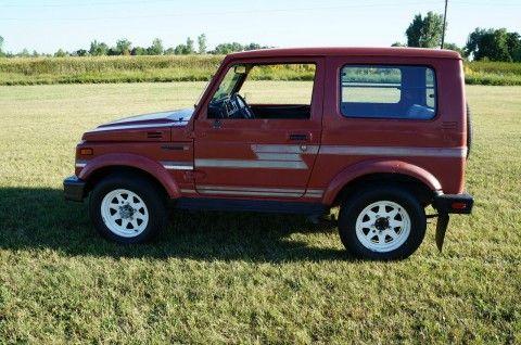 1986 Suzuki Samurai JX 4X4 tin top for sale