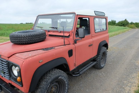 1989 Land Rover Red Defender 90 Turbo Diesel for sale