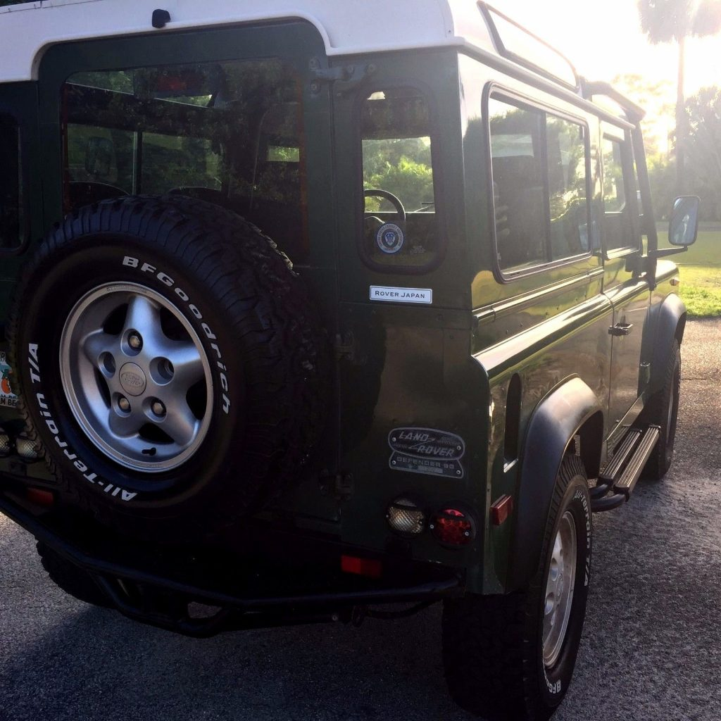 solid 1997 Land Rover Defender offroad