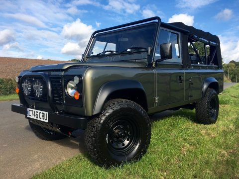 Black Exmoor 1986 Land Rover Defender offroad for sale