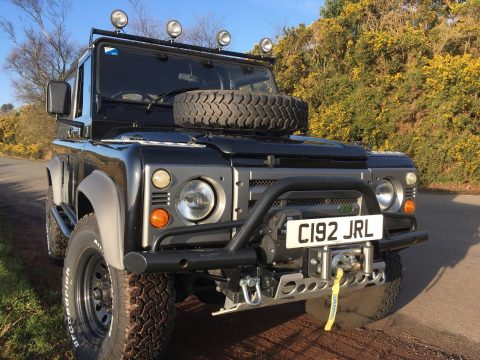 Black Exmoor Trim 1986 Land Rover Defender offroad for sale