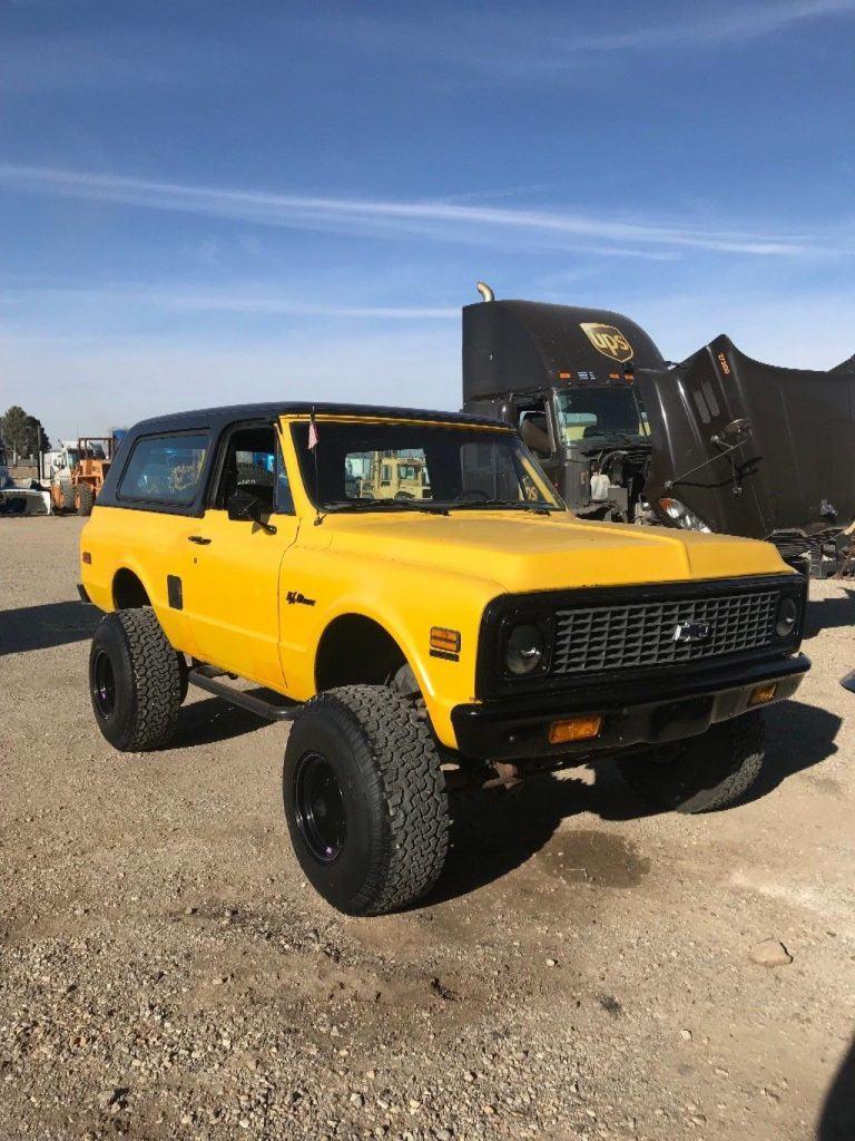 minimal rust 1972 Chevrolet Blazer Cst offroad