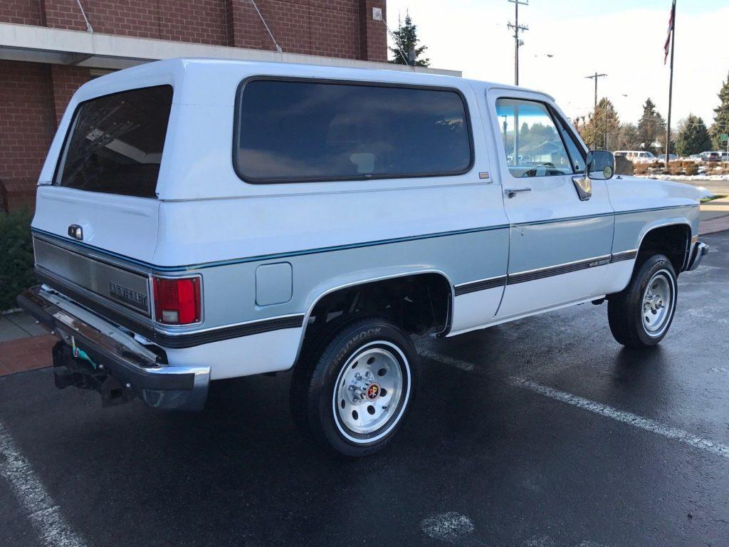 very clean 1990 Chevrolet Blazer Silverado K5 offroad