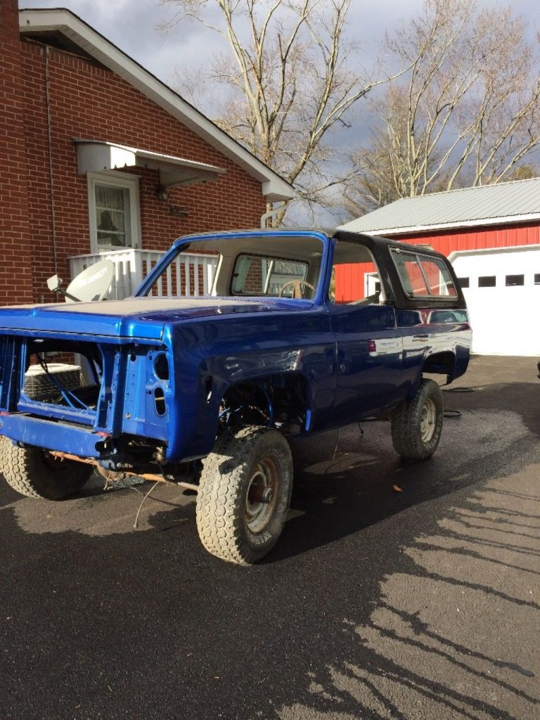 ready to be completed 1973 Chevrolet Blazer offroad