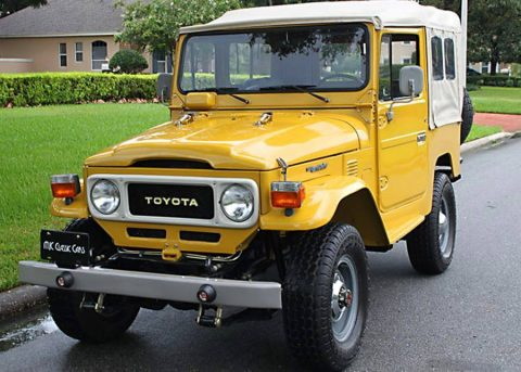 low miles 1982 Toyota Land Cruiser FJ40 offroad for sale