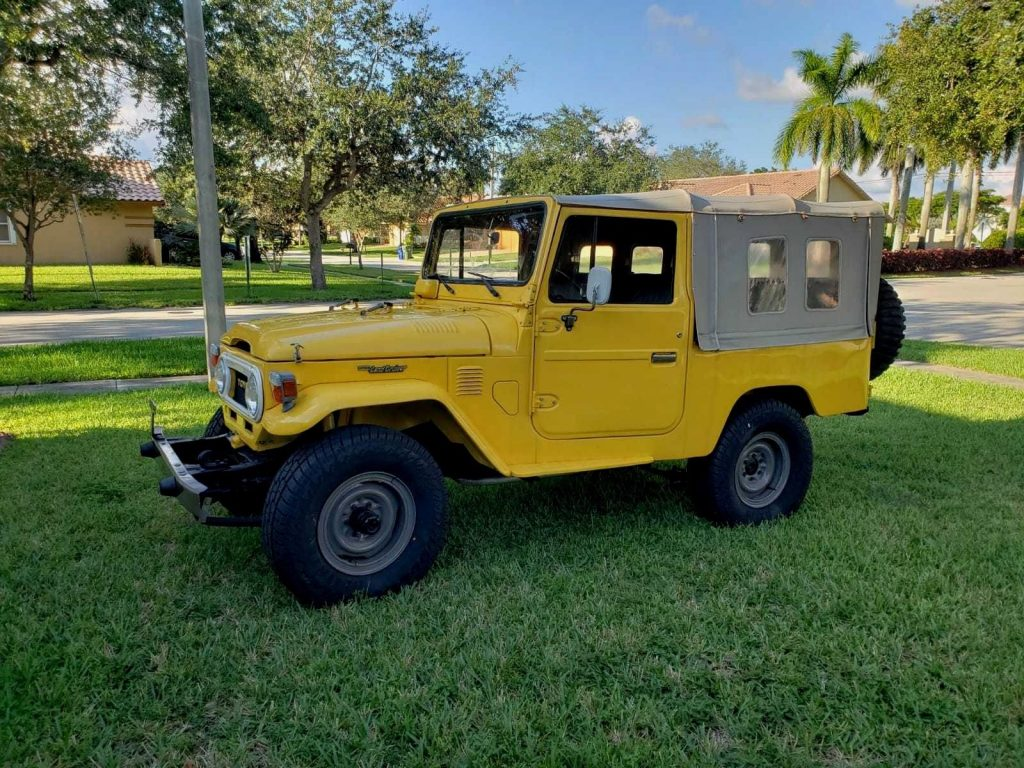 restored 1978 Toyota Land Cruiser FJ43 offroad