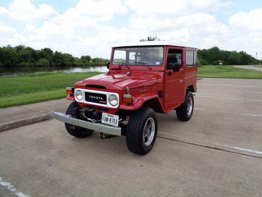 restored 1981 Toyota Land Cruiser Deluxe offroad