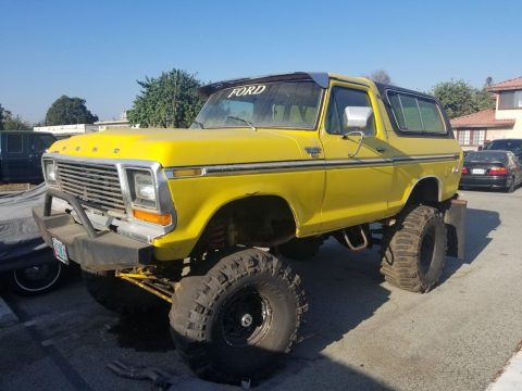 lifted custom 1979 Ford Bronco Ranger offroad for sale