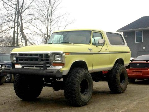 vintage 1979 Ford Bronco XLT offroad for sale