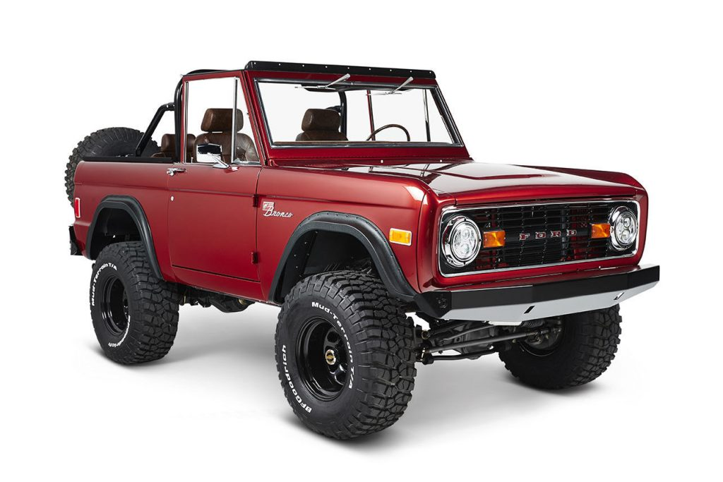 restored and customized 1977 Ford Bronco Coyote offroad