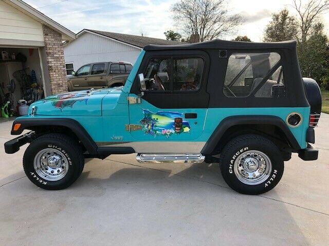 custom paint 1997 Jeep Wrangler Sport offroad