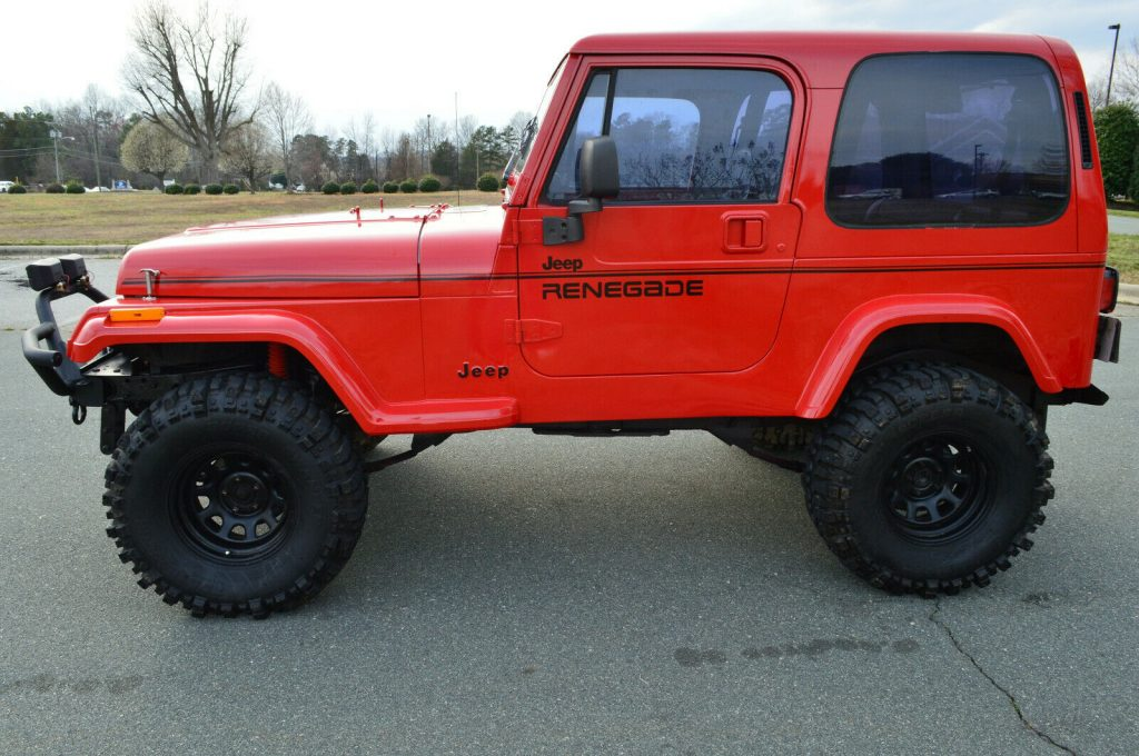 fully restored 1994 Jeep Wrangler Renegade offroad