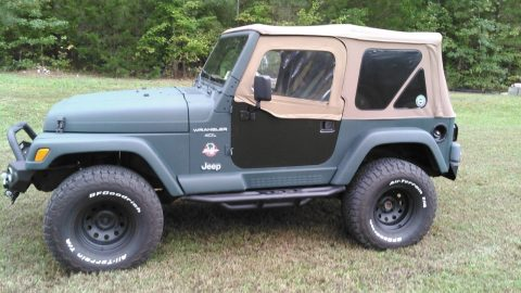 new paint 1997 Jeep Wrangler offroad for sale
