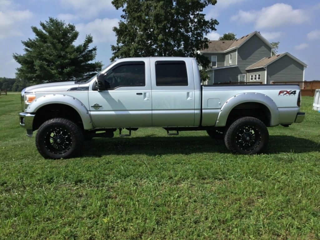 6 inch lift 2012 Ford F 250 Lariat Super Duty offroad