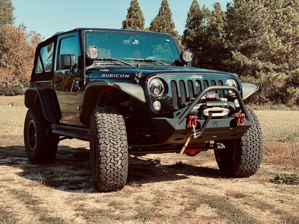 loaded 2015 Jeep Wrangler Rubicon offroad