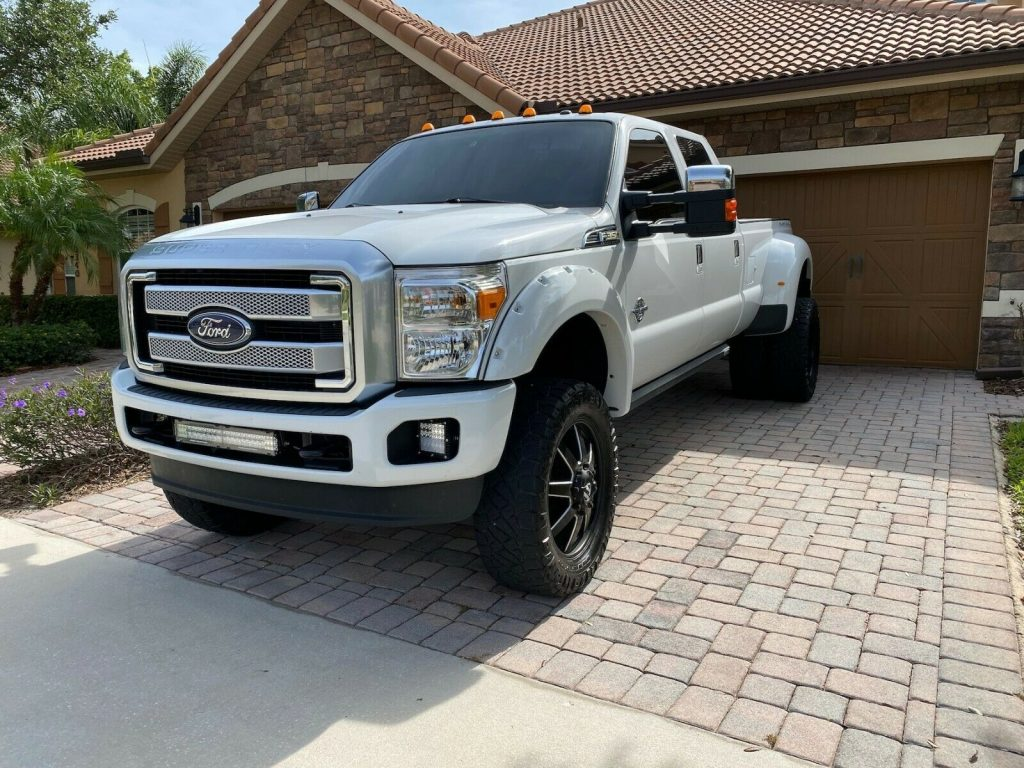 carefully maintained 2011 Ford F 350 Platinum offroad